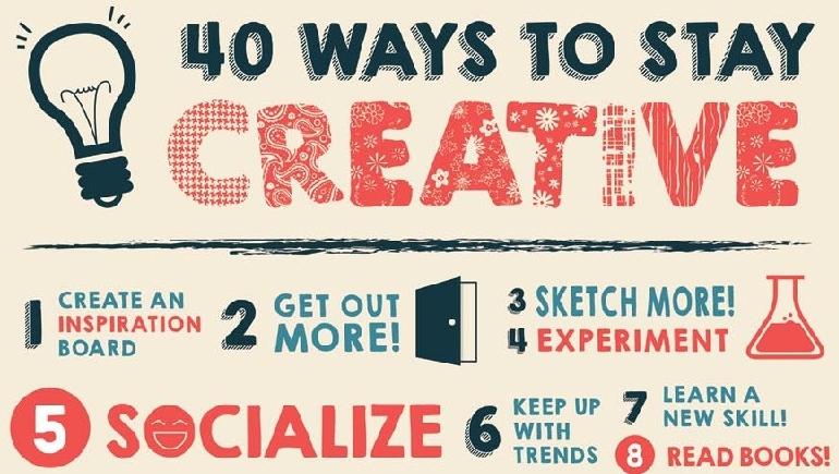 40 modi per mantenersi creativi